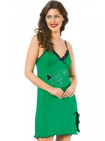 Akbeniz Bayan İp Askılı Gecelik Yeşil 682