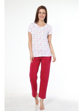 Akbeniz Bayan Kısa Kol Pijama Takımı 2314