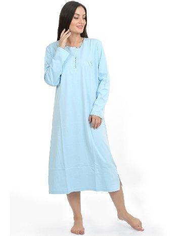 Akbeniz Kadın Mavi Lohusa Gecelik 86830