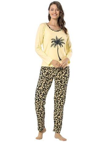 Akbeniz Bayan Uzun Kol Pijama Takımı 2448