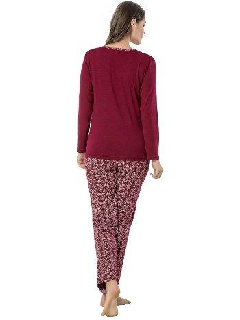 Akbeniz Bayan Uzun Kol Pijama Takımı 2452