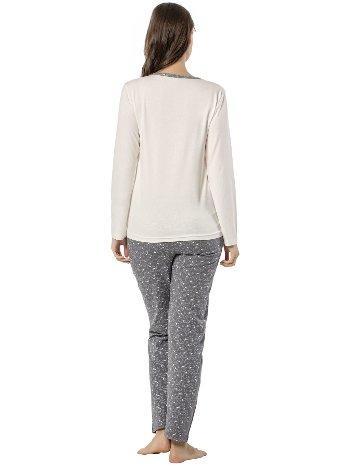 Akbeniz Bayan Uzun Kol Pijama Takımı 2453