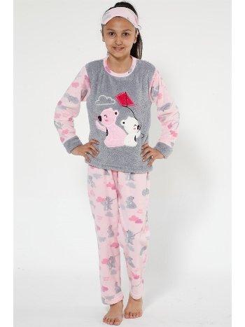 Akbeniz Well Soft Kız Çocuk Pijama Takımı 4522
