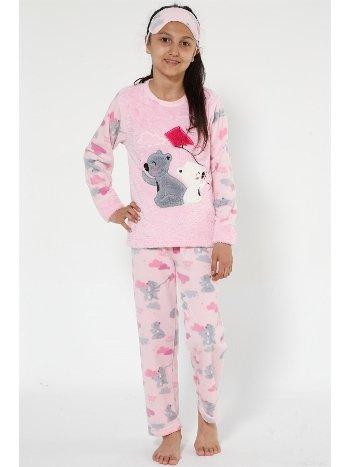 Akbeniz Well Soft Kız Çocuk Pijama Takımı 4523