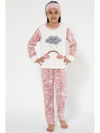 Akbeniz Well Soft Kız Çocuk Pijama Takımı 4524
