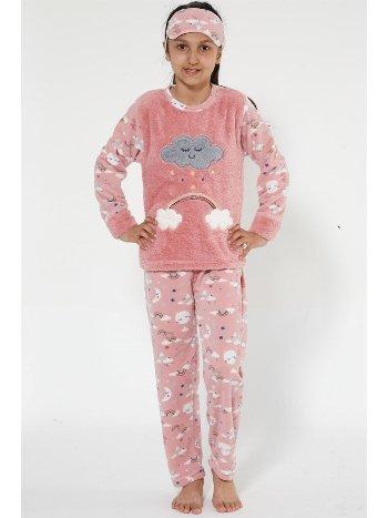 Akbeniz Well Soft Kız Çocuk Pijama Takımı 4525