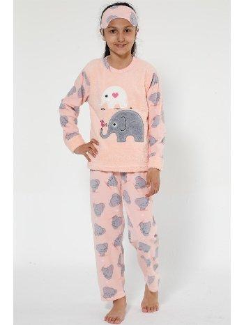 Akbeniz Well Soft Kız Çocuk Pijama Takımı 4526