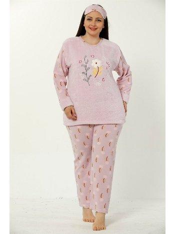 Akbeniz WellSoft Büyük Beden Kadın Pijama Takımı 8040