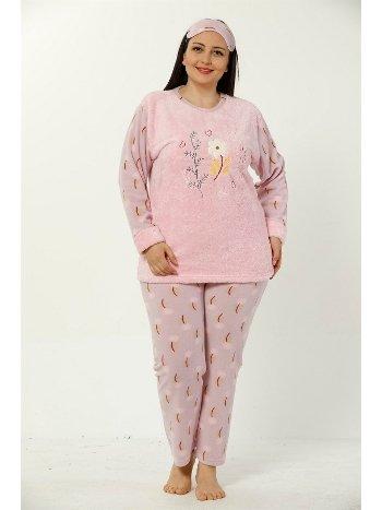 Akbeniz WellSoft Büyük Beden Kadın Pijama Takımı 8041