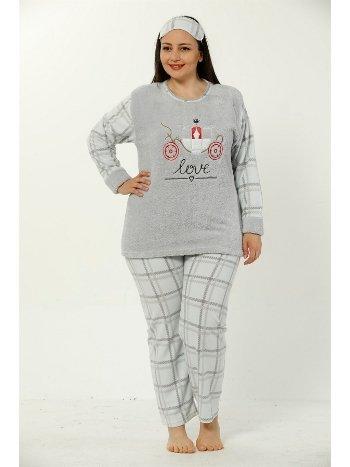 Akbeniz WellSoft Büyük Beden Kadın Pijama Takımı 8042