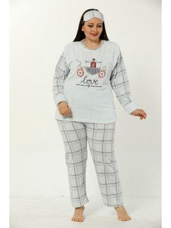 Akbeniz WellSoft Büyük Beden Kadın Pijama Takımı 8045