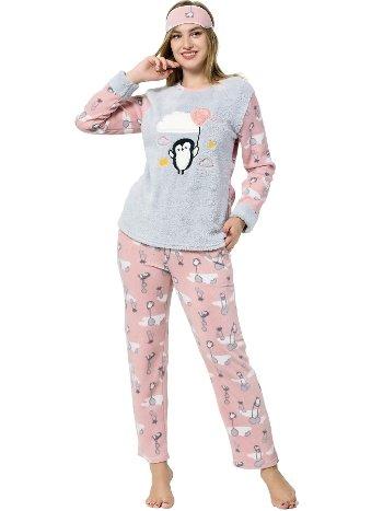 Akbeniz WellSoft Kadın Pijama Takımı 8054