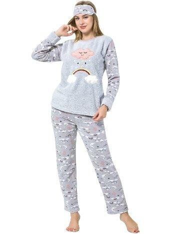 Akbeniz WellSoft Kadın Pijama Takımı 8055