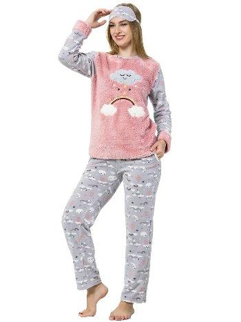 Akbeniz WellSoft Kadın Pijama Takımı 8056