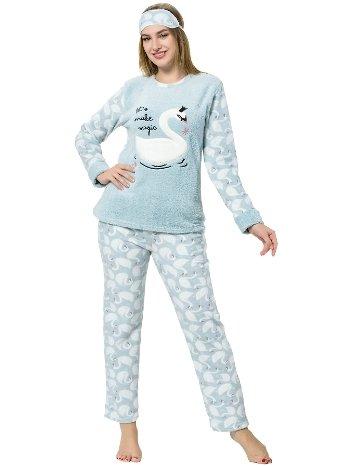 Akbeniz WellSoft Kadın Pijama Takımı 8058