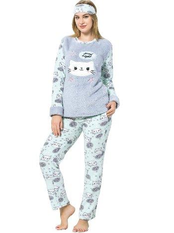 Akbeniz WellSoft Kadın Pijama Takımı 8060