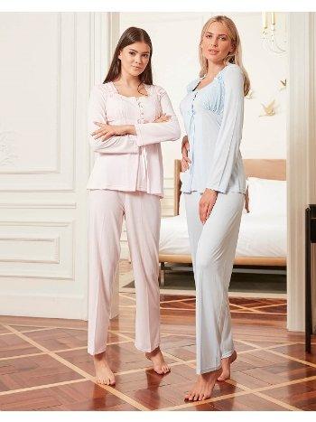 Bone Club 4803 Hamile ve Lohusa 3'lü Pijama Takımı