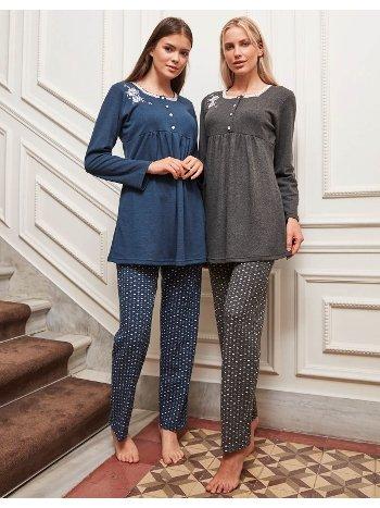 Bone Club 4820 Klasik Kalpli Büyük Beden Pijama Takımı