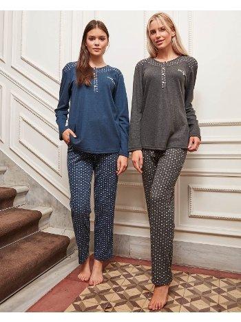 Bone Club 4822 Klasik Kalpli Pijama Takımı