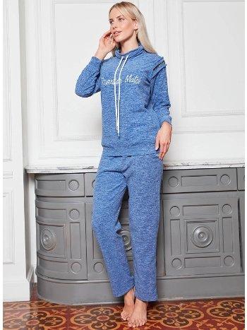 Bone Club 4824 Kırçıllı Polar Pijama Takımı