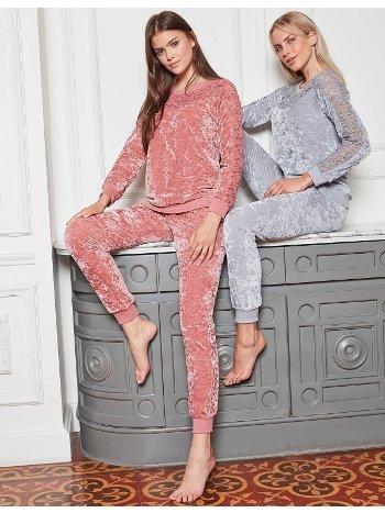 Bone Club 4825 Kadife Spor Pijama Takımı