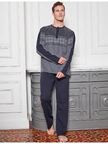 Bone Club 4855-2 Pano Desen Parçalı Pijama Takımı