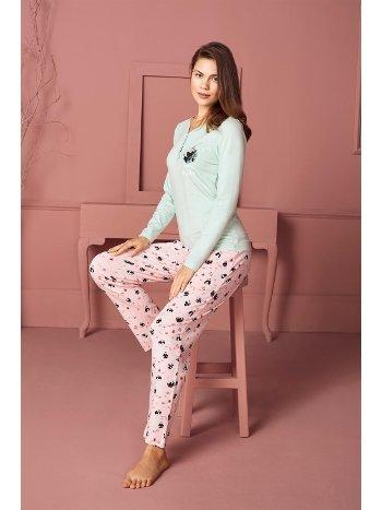 Doreanse Kadın T-Shirt Pijama Takımı 4210
