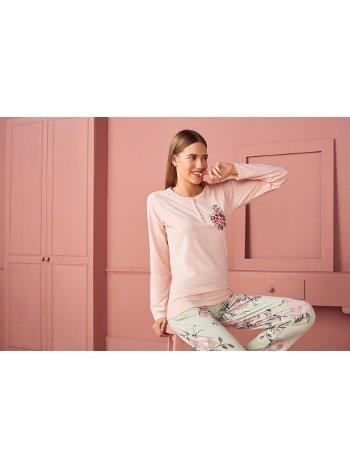 Doreanse Kadın T-Shirt Pijama Takımı 4220