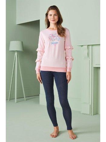 Doreanse Kadın T-Shirt Pijama Takımı 4300