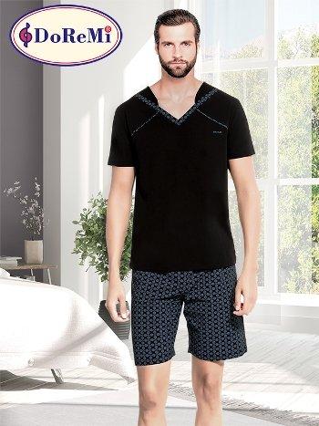 DoReMi Kısa Kollu Erkek Pijama Takımı