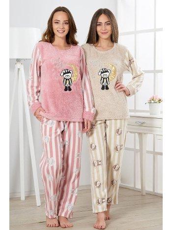 Estiva Kadın Welsoft Ayıcıklı Pijama Takımı 19341