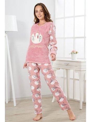 Estiva Kadın Welsoft Kuğulu Pijama Takımı 19349