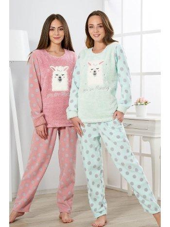 Estiva Kadın Welsoft Puantiyeli Pijama Takımı 19346