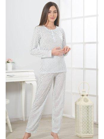 Estiva Viskon Kalp Puantiyeli Pijama Takımı 19376