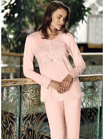 Fantasy 1020 Rose Sabahlıklı Pijama Takımı