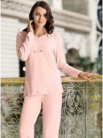 Fantasy 1021 İnce Püskül Sabahlıklı Pijama Takımı