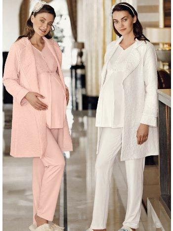 Fantasy 1025 Polar Sabahlıklı Hamile Pijaması