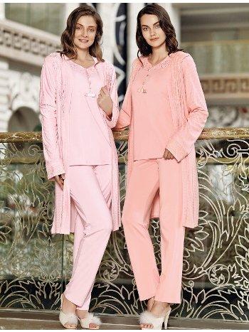 Fantasy 1026 Seramoni Sabahlıklı Pijama Takımı