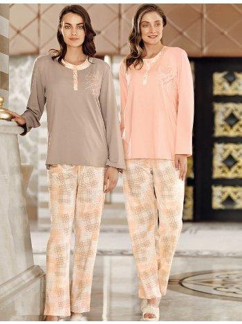 Fantasy 1054 Büyük Beden Romantik Pijama Takımı