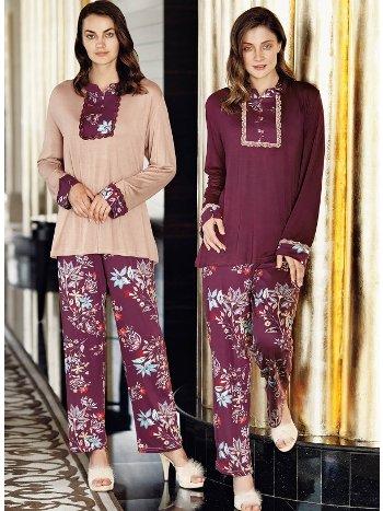 Fantasy 1056 Büyük Beden Dantelli Pijama Takımı
