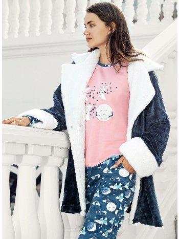 Fantasy 1070 Polar Sabahlıklı Pijama Takımı