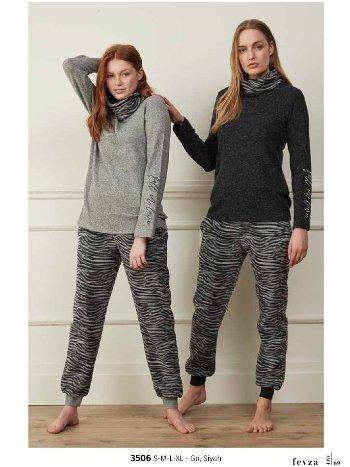 Feyza 3506 Zebra Pijama Takımı