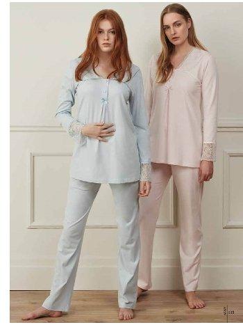 Feyza 3521 Klasik 3lü Pijama Takımı