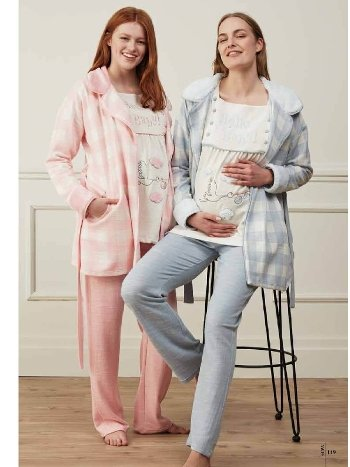 Feyza 3523 Üçlü Hamile ve Lohusa Pijama Takımı