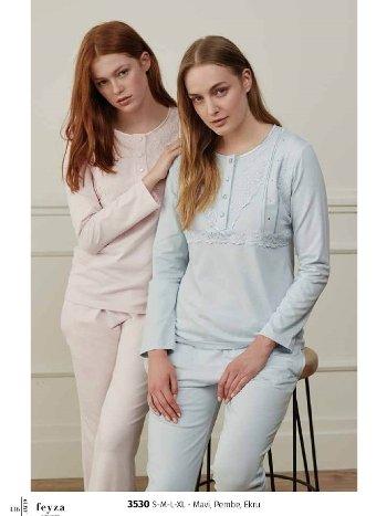 Feyza 3530 Klasik Pijama Takımı
