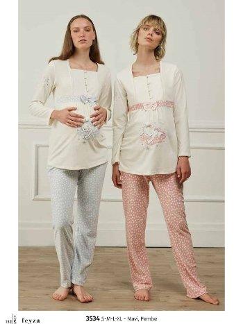 Feyza 3534 Hamile ve Lohusa Pijama Takımı