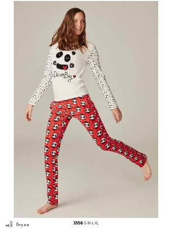 Feyza 3556 Pandalı Pijama Takımı