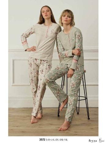 Feyza 3572 Klasik Pijama Takımı