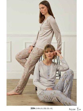 Feyza 3594 Klasik Pijama Takımı