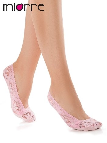 Miorre Dantelli Bayan Babet Çorabı